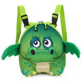 ราคา Snoopy Kids 3D Cute Lovely Dinosaur Kindergarten Sch**l Bag Backpacks Color Green เป็นต้นฉบับ