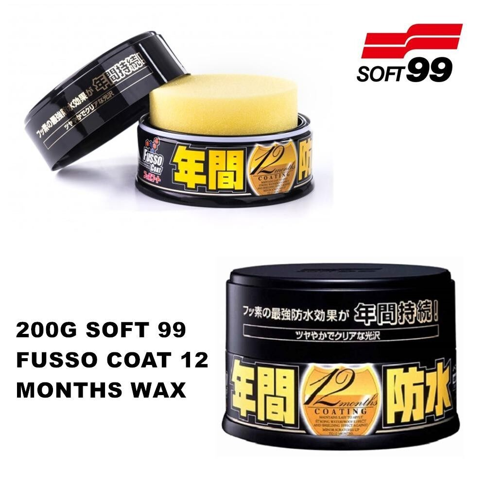 Soft 99 / Soft99 Fusso Coat 12 Months Dark Color Wax - 200g