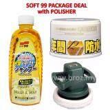 [Soft99 Package Deal] Car Polisher + Fusso Wax Light Colour Wax + Soft 99 Wash and Wax Shampoo