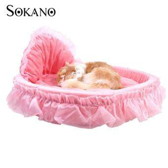 SOKANO Premium Luxury Pet Bed With Detachable Pad- Pink