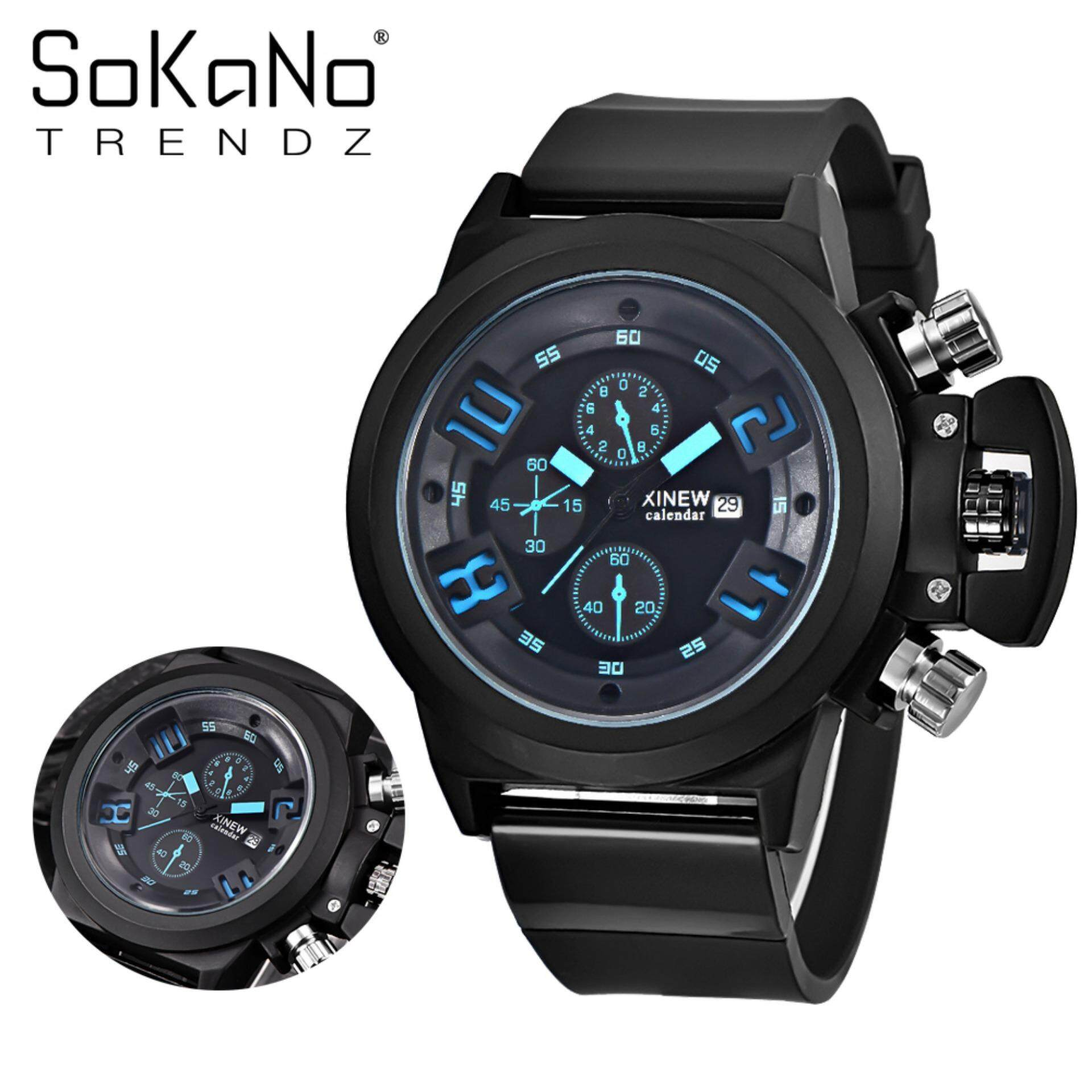 SoKaNo Trendz 7166 Men Premium Sport Watch - Blue