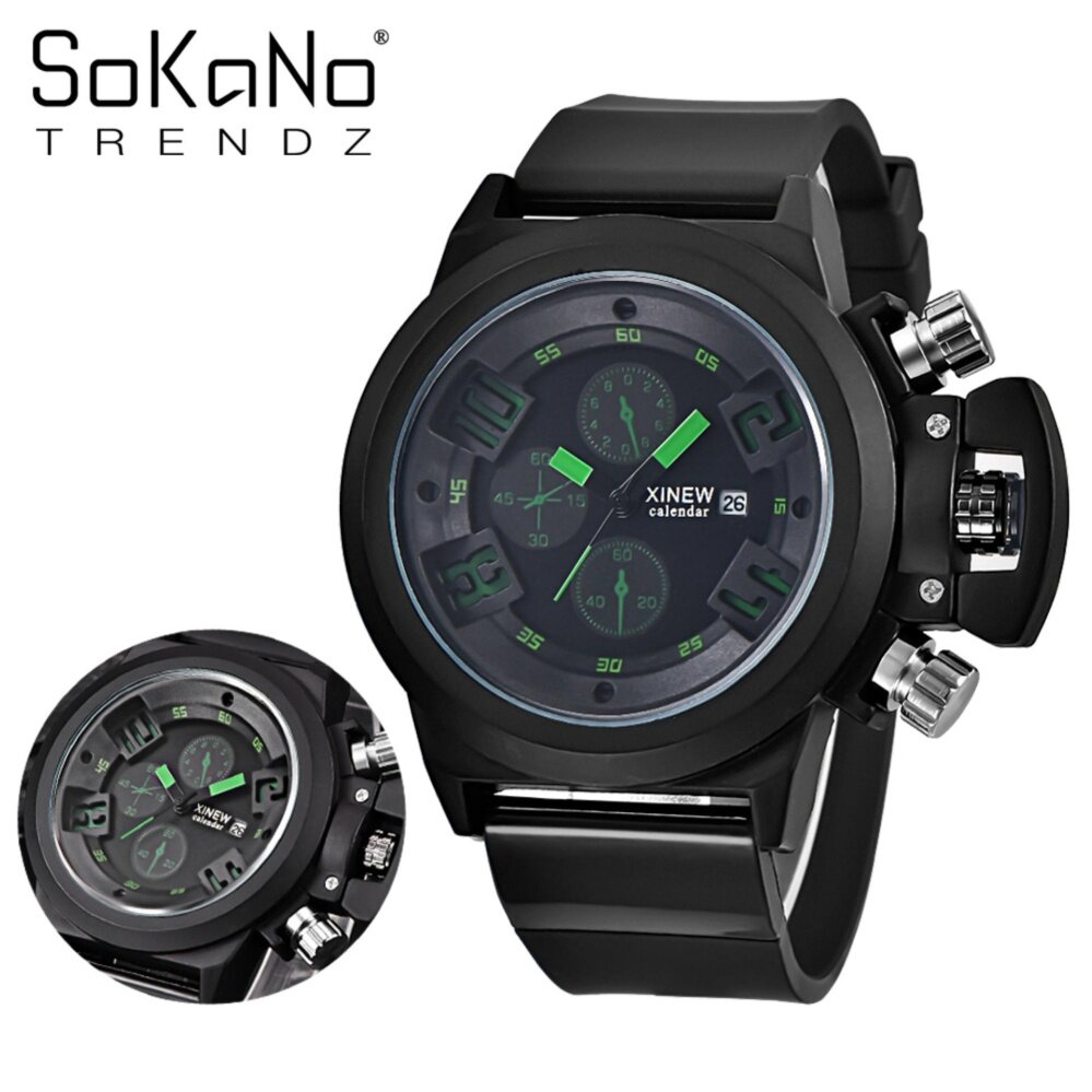 SoKaNo Trendz 7166 Men Premium Sport Watch - Green