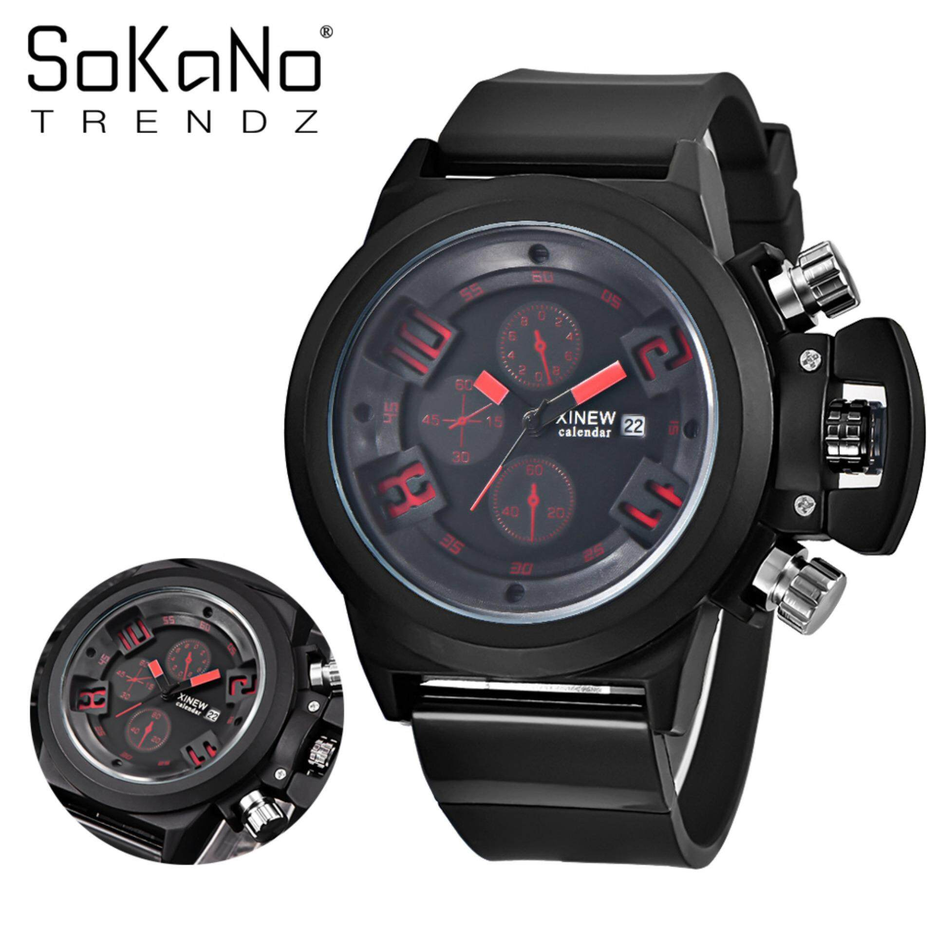 SoKaNo Trendz 7166 Men Premium Sport Watch - Red