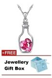 SoKaNo Trendz Australian Crystal Love In Bottle N35 Necklace - Rose Red + Gift Box