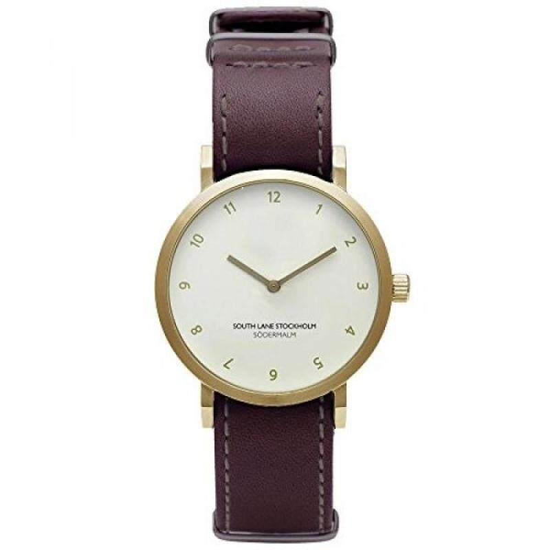 South Lane SODERMALM GOLD Quartz Stainless Steel and Leather Casual Watch, Color:Red (Model: 659436314696) Malaysia