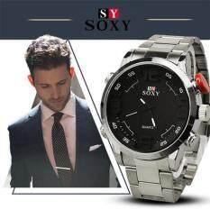 ความคิดเห็น Soxy Man S Fashion Alloy Steel Belt Organic Glass Quartz Business Watch Color Main Pic