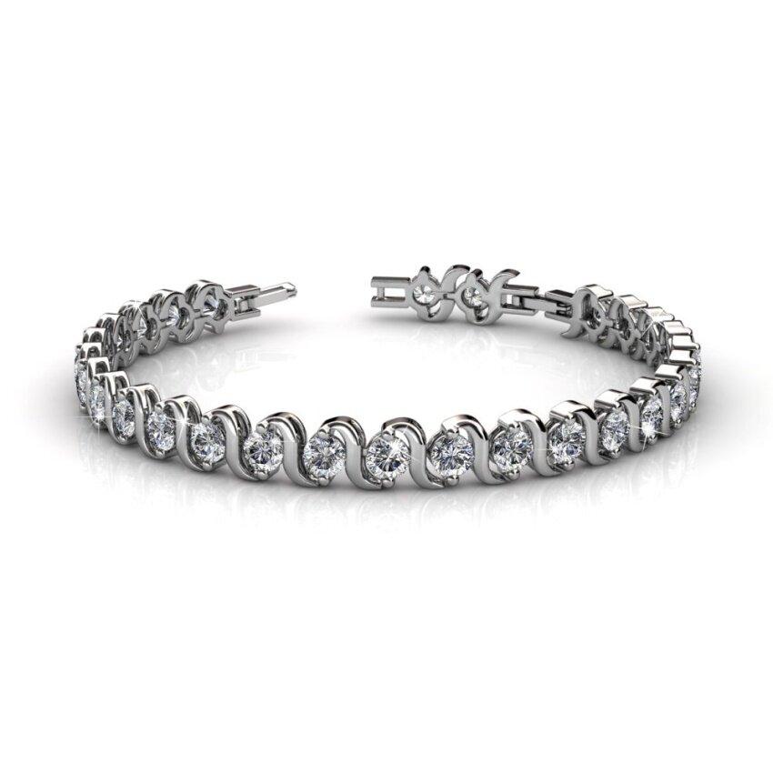 Her Jewellery Spiral Bracelet embellished with Crystals from Swarovski