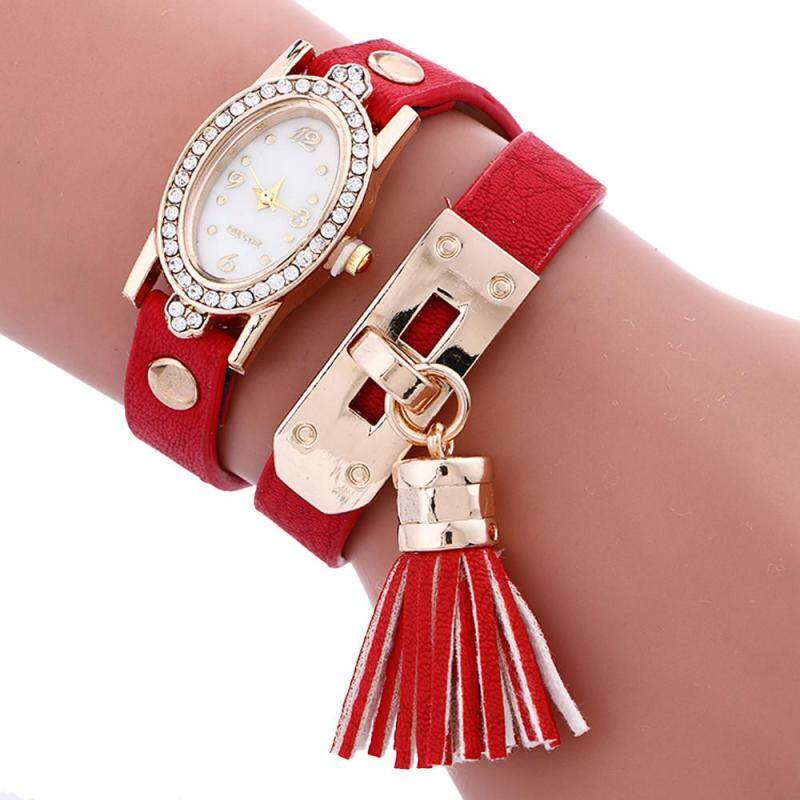 Nơi bán Stylish simplicity Chimes Leather Bracelet Lady Womans Wrist Watch RD - intl