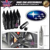 Broz Subaru High Quality Aluminum Universal M12 x P1.25 Wheel Nut - Black (20PCS)