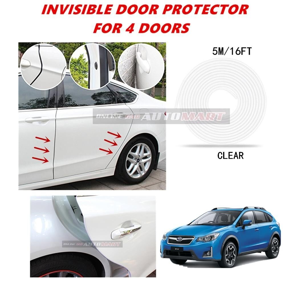 Subaru XV/Subaru Forester - 16FT/5M (CLEAR) Moulding Trim Rubber Strip Auto Door Scratch Protector Car Styling Invisible Decorative Tape (4 Doors)