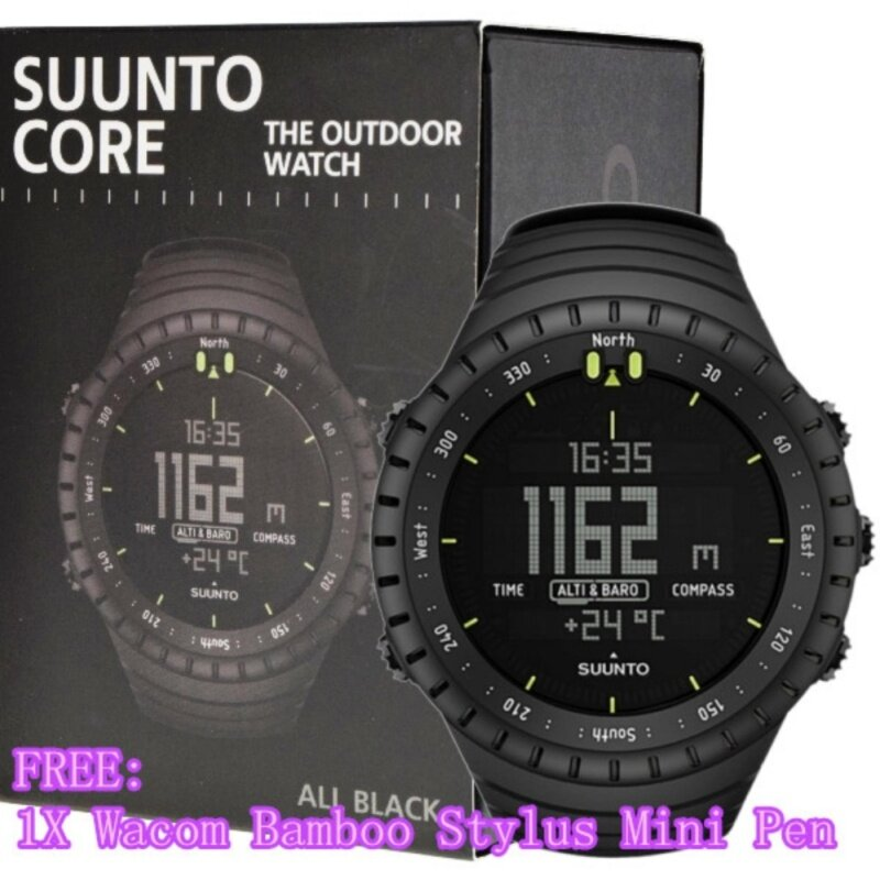 Suunto Core All Black Outdoor Watch with Altimeter, Baromete & Compass In A Durable Composite Case SS014279010 Malaysia