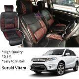 Broz Suzuki Vitara Red Lining Design Universal Car PU Seat Mat with Lumbar Support Per Piece