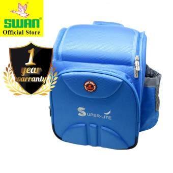 Swan Bag Superlite Ergonomic Spacious School Bag Very Light Kids Bag-Blue