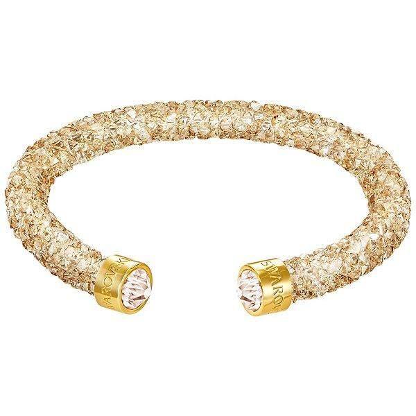 Swarovski Crystaldust Cuff Silver Bracelet 4 Colors