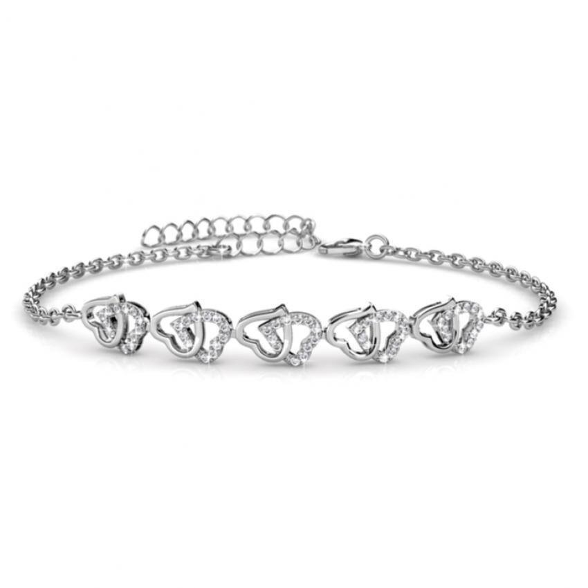 Her Jewellery Sweet Love Bracelet embellished with Crystals from Swarovski
