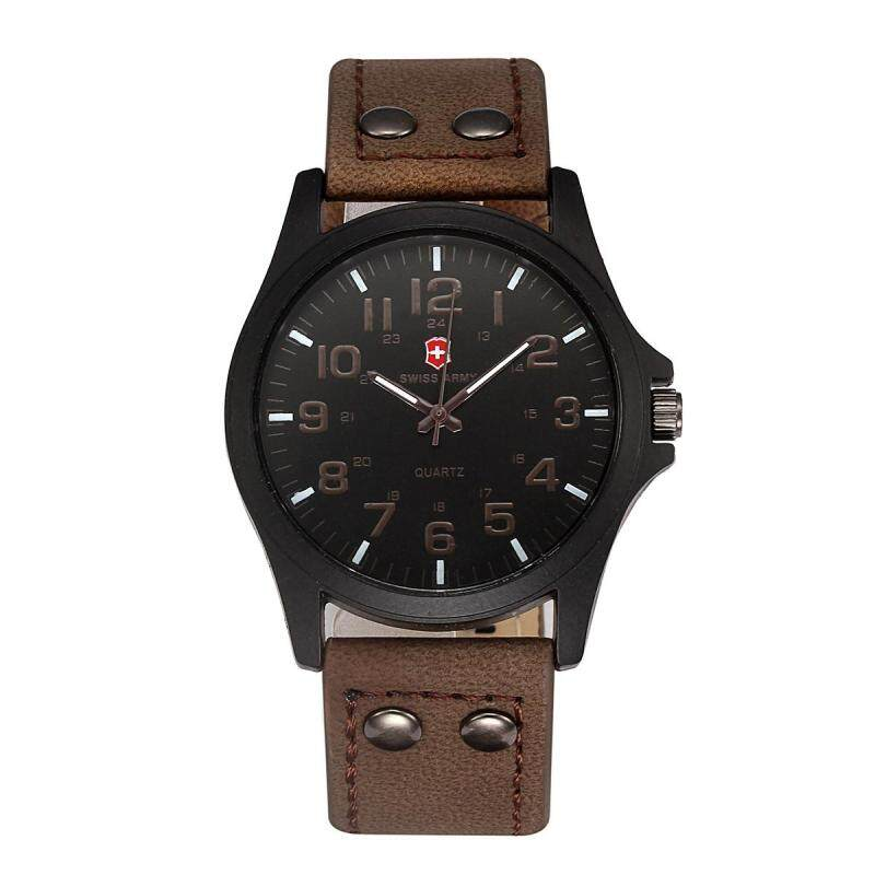 Swiss Army Quarter Men s Exquisite Comfortable Belt Watch  Dark Brown Face Malaysia