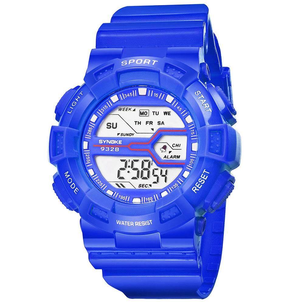 SYNOKE Modis Olahraga Anak Jam Tangan 3ATM Air Tahan Digital Lampu Latar Siswa Anak-anak Arloji Stopwatch Alarm-Internasional