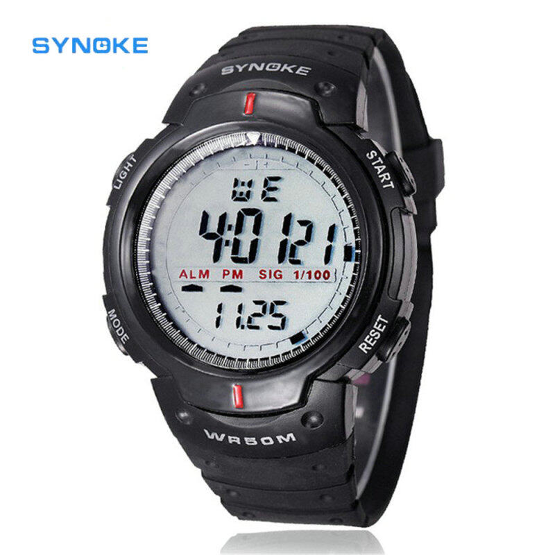 SYNOKE New Waterproof Outdoor Men Watches Mens Digital LED Quartz Watch Sports Military Alarm Date Wrist Watch Hot Sales Malaysia