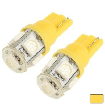 T10 Yellow 5 LED 5050 SMD Car Signal Light Bulb (Pair)(Yellow)