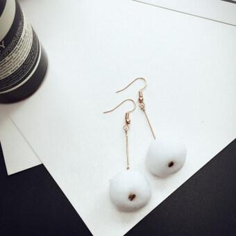 Taimi temperament original design hand-made plush ball earrings