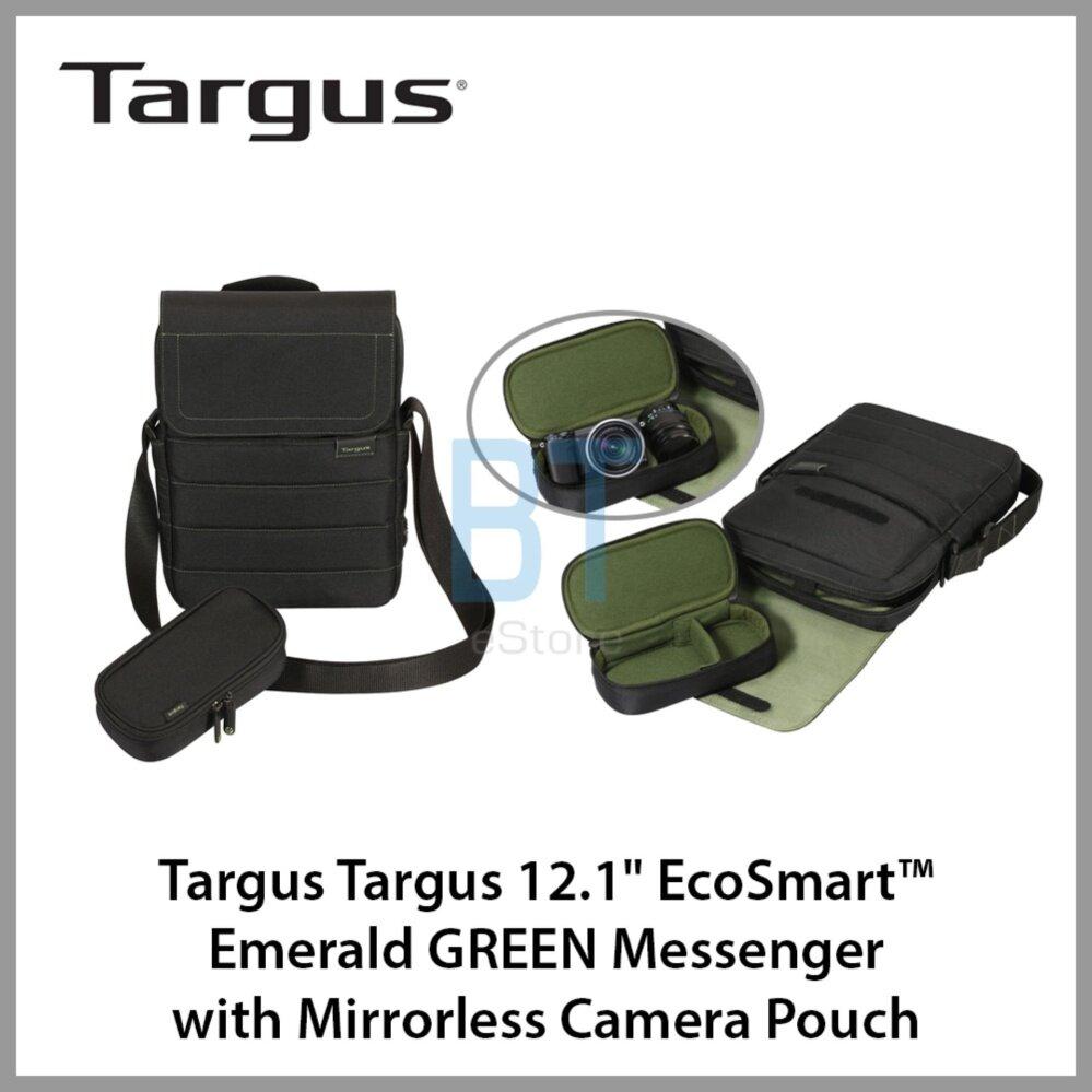 "Targus 12.1"" EcoSmart™ Emerald GREEN Messenger with Mirrorless Camera Pouch"