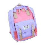 TEEMI Contrast Color Macaron Donut Fashion Backpack Korean Handbag School Travel Laptop Bag - PinkPurple
