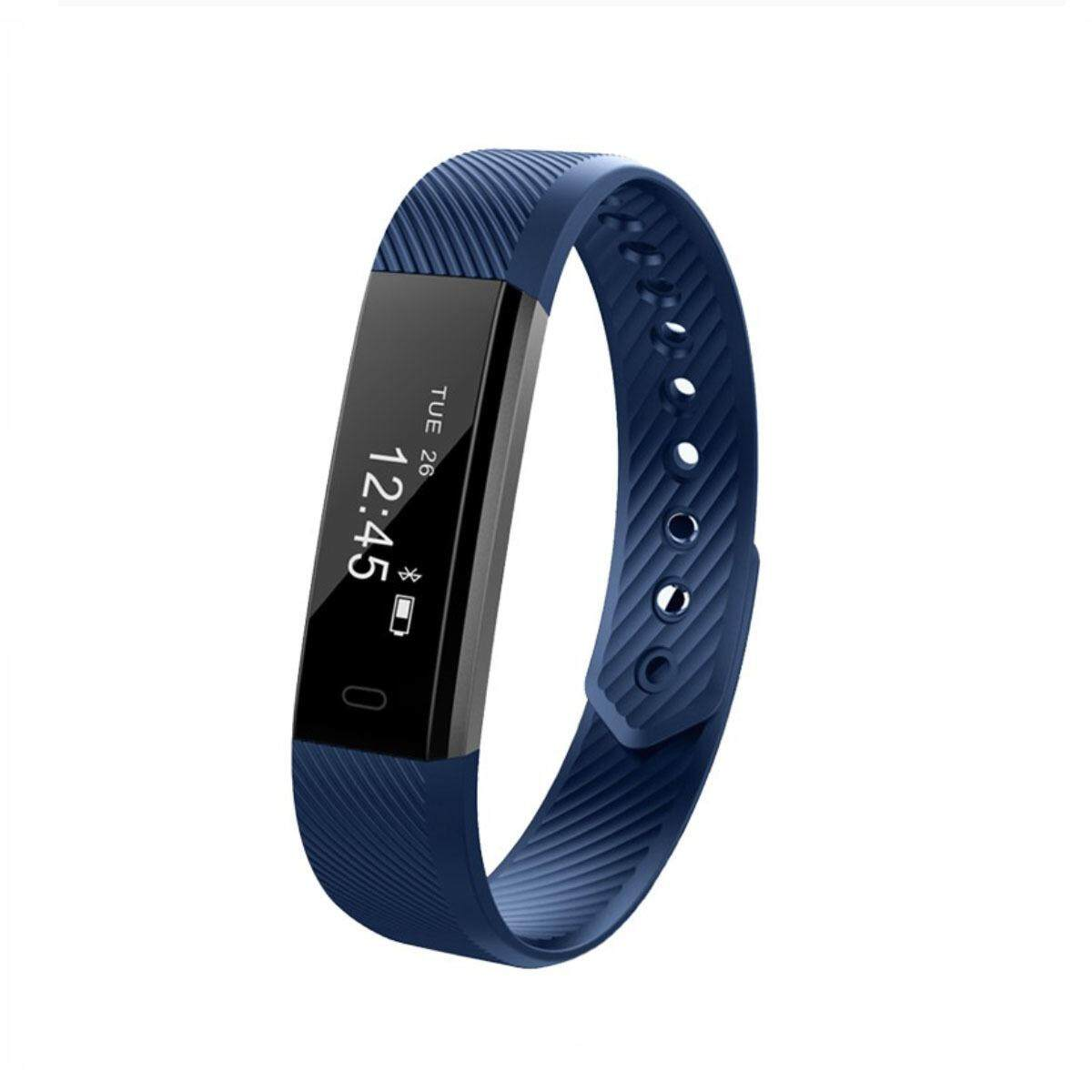 Tekkashop Xmas Gift ID115 PRO Fitness Tracker Smart Watch Wristband Smartband (Android/IOS), Dark Blue