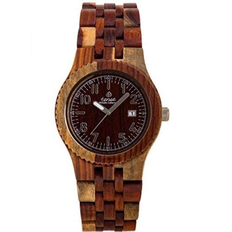 Tense J5200I Yukon Wood Case and Bracelet Brown Dial Inlaidwood Watch Malaysia