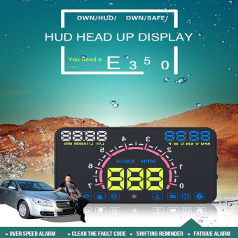 "Harga The Newest 5.8"" E350 HUD Car Head Up Display OBD2 Digital carspeedometer Car styling"