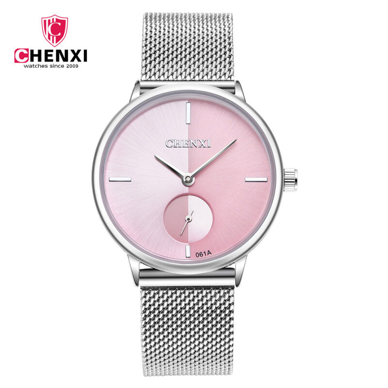 The spot watch web strip crown table waterproof ultra-thin fashion quartz watches wholesale womens watches 061A Malaysia