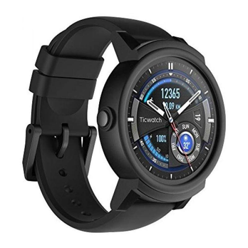 Ticwatch E Super Lightweight Smartwatch-Shadow,1.4 inch OLED Display, Android Wear 2.0,Compatible with iOS and Android, Google Assistant Malaysia
