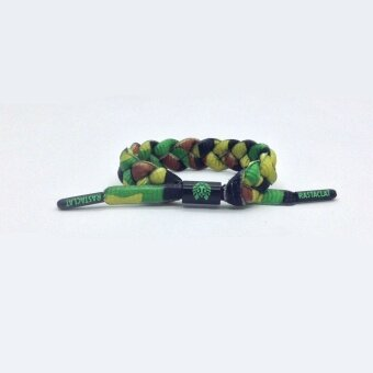 Tide brand jamaican reggae red yellow green gradient small lion rastaclat shoelace braiding rope couple bracelet - intl