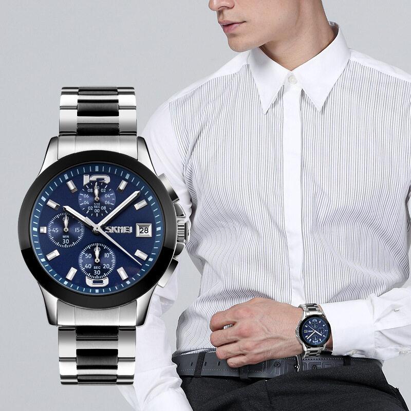 Time watch, waterproof fashion quartz watch, trend business, six pin tape, retro watches Malaysia
