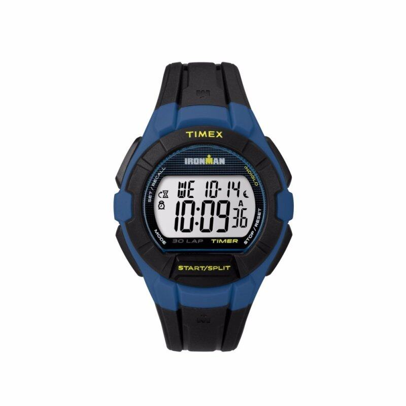 Timex IRONMAN Essential 30 Full-Size - Black Rubber Strap - Blue Case (TW5K95700) Malaysia