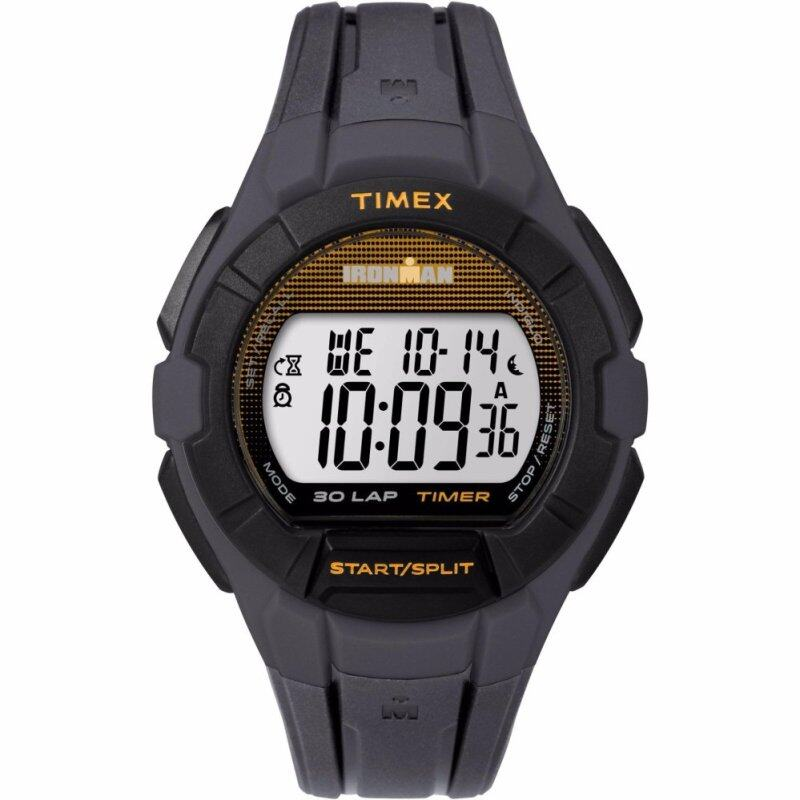 Timex IRONMAN® Essential 30 Full-Size (TW5K95600) -  Black Resin Strap + Orange Accents Malaysia