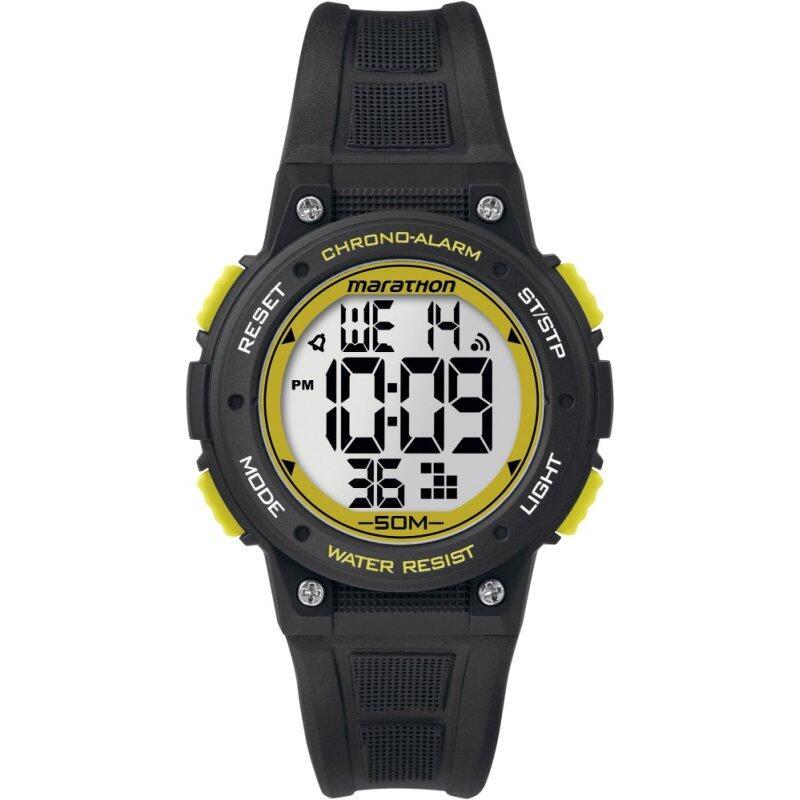 Timex Marathon® Quartz Digital Mid-Size Black/Yellow Resin Strap Malaysia
