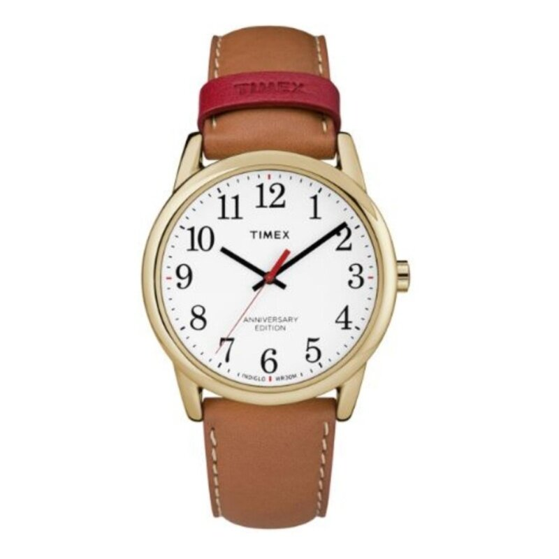 Timex Style-Easy Reader Easy Reader Strap Mens Easy Reader White Dial Tan Leather Strap Malaysia