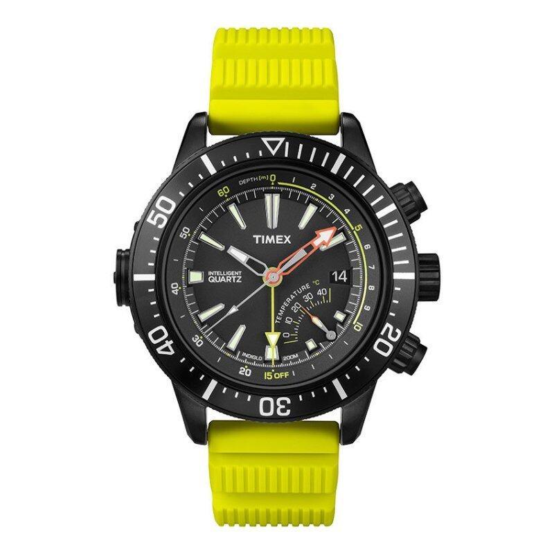 Timex Style-Iq Iq Adventure Iq Depth Green Resin Strap Blk Dial Malaysia