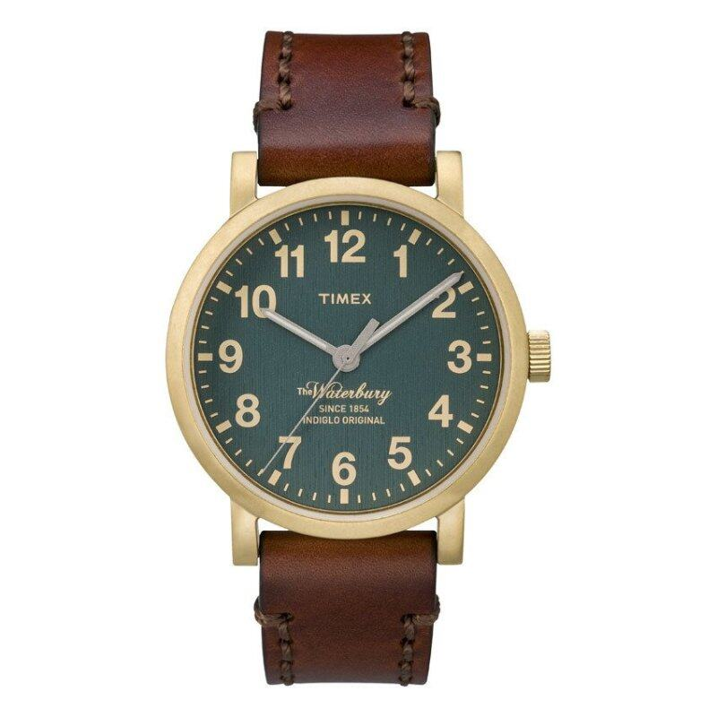 Timex Style-Originals Originals Modern The Waterbury Green Dial Dark Brown Strap Malaysia