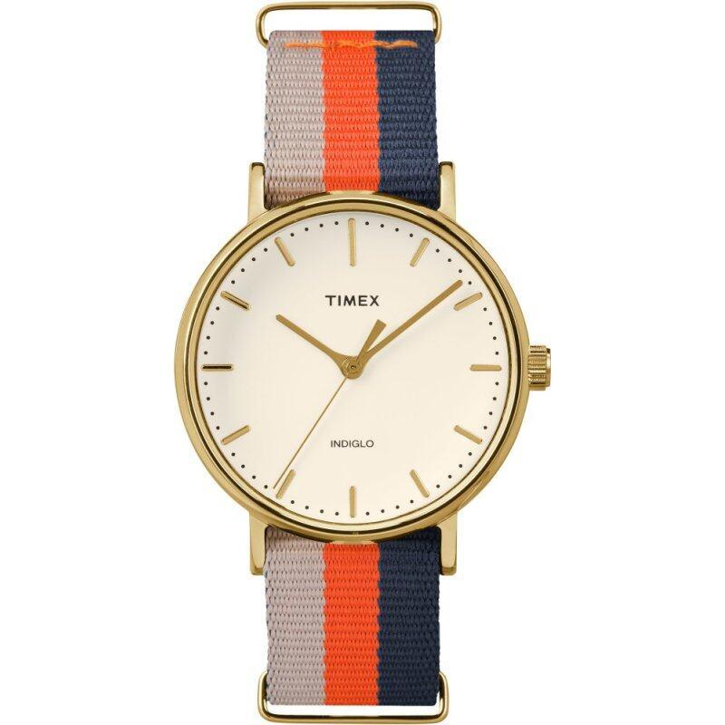 Timex Style-Weekender Weekender Slip-Thru Fairfield Mid-Size White/Orange/Blue Malaysia