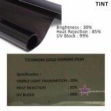 Broz Titanium Gold Shining Film 30% Solar Control Window Film Tint Film For Car Auto SUV Van Window Office Tint 300cm x 50cm