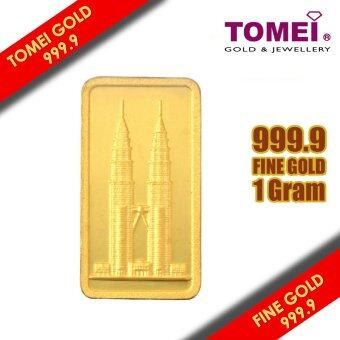"TOMEI Icons of Malaysia ""KLCC\"" Gold Wafer 1 Gram, 999.9 Fine Gold"