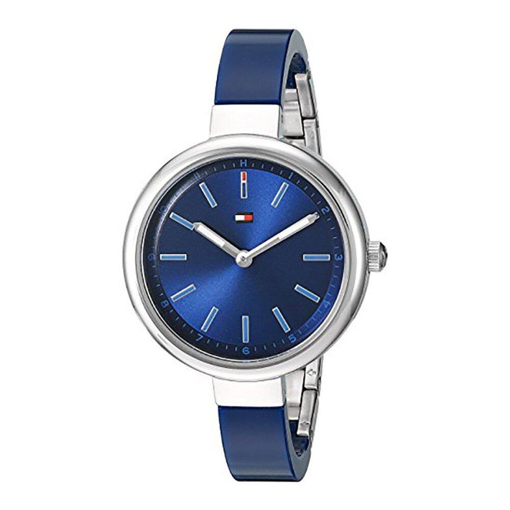 Tommy Hilfiger Watch MAISY blue Stainless-Steel Case Plastic Strap Ladies NWT + Warranty 1781728