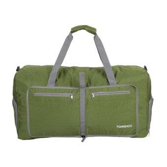 TOMSHOO 80L Foldables Packable Duffle Bag Large Travel Luggage Shopping Gym Storage Bag Water-resistant Green