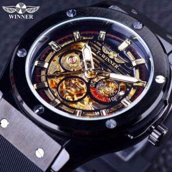 Harga Tourbillon Watches Mens Automatic Watch Men Luxury Brand FamousStainless Steel Mechanical Watch Orologio Uomo Hodinky