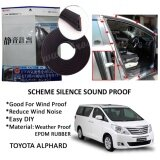 Toyota Alphard 2000-2015 SCHEME SILENCE (Double D) DIY Air Tight Slim Rubber Seal Stripe Sound & Wind Proof & Sound Proof for Car (4 Doors)