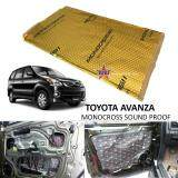 Toyota Avanza MONOCROSS Car Auto Vehicle High Quality Exhaust Muffler Heat Sound Proofing Deadening Insulation Mat Pad Waterproof 80x45cm (GOLD)