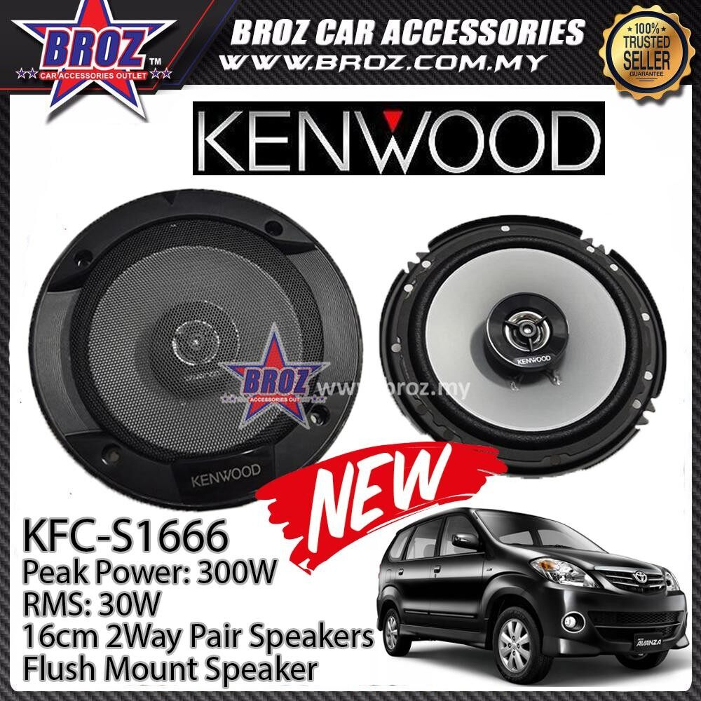 Broz Toyota Avanza Rear Kenwood KFC-S1666 Stage Sound Series 2 Way Speakers