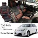 Toyota Estima ACR-30 2000-2006 Red Lining Design Universal Car PU Seat Mat with Lumbar Support Per Piece
