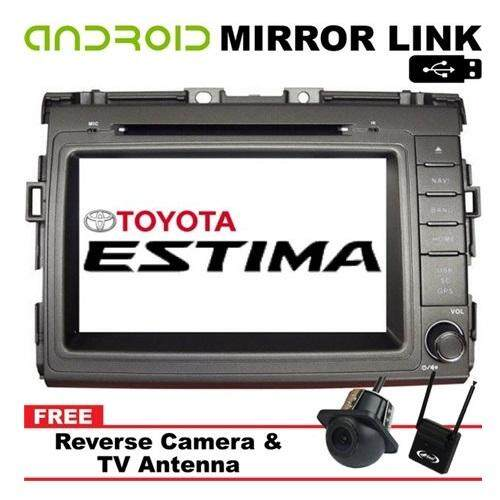 TOYOTA ESTIMA ACR50 2006 - 2017 8 Android Mirror Link Double Din GPS DVD MP3 CD USB SD BT TV Player Free Camera & TV Antenna""